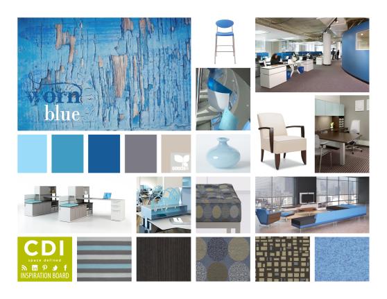 CDI Inspiration Board - Worn Blue