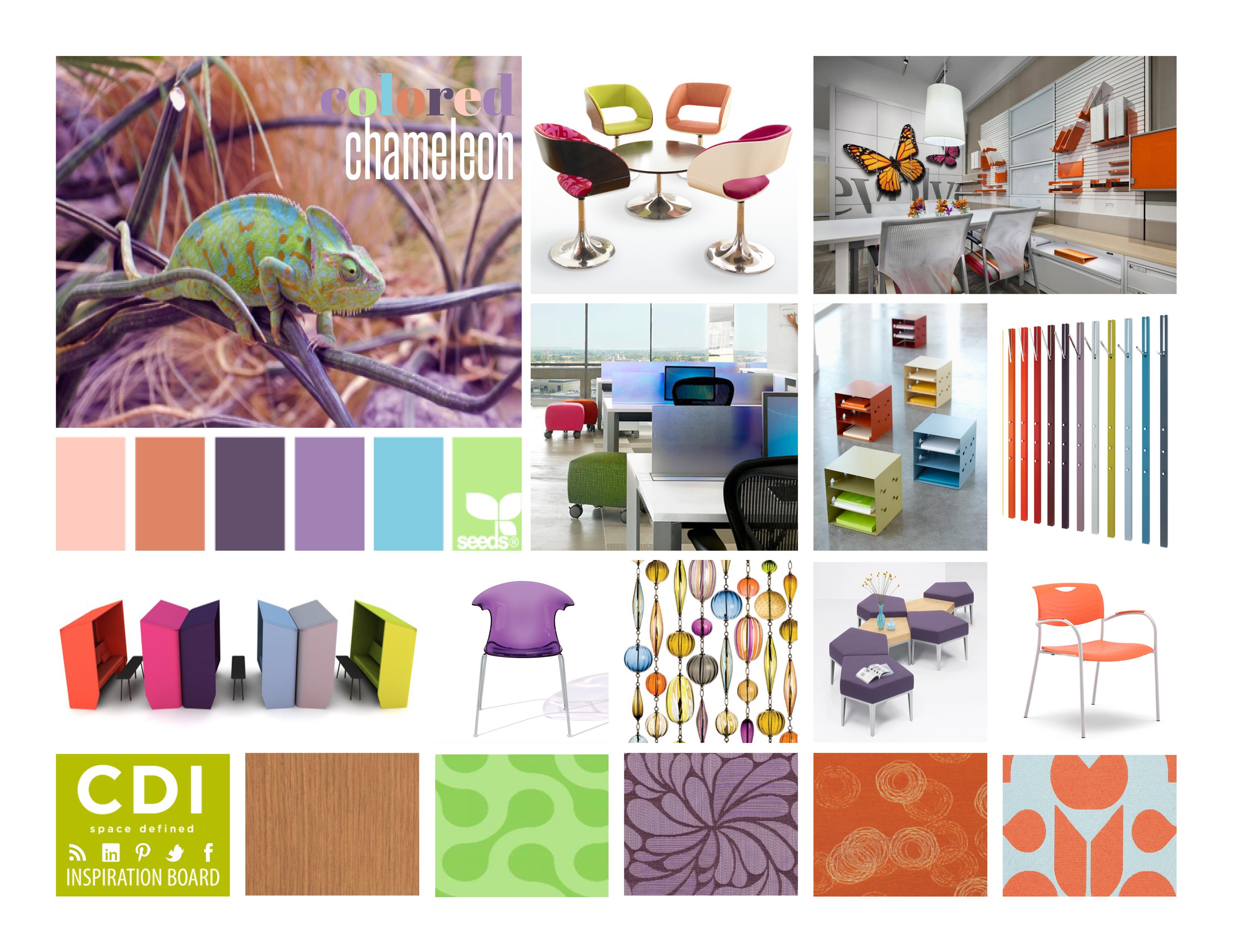Inspiration Board Colored Chameleon CDI BLOG