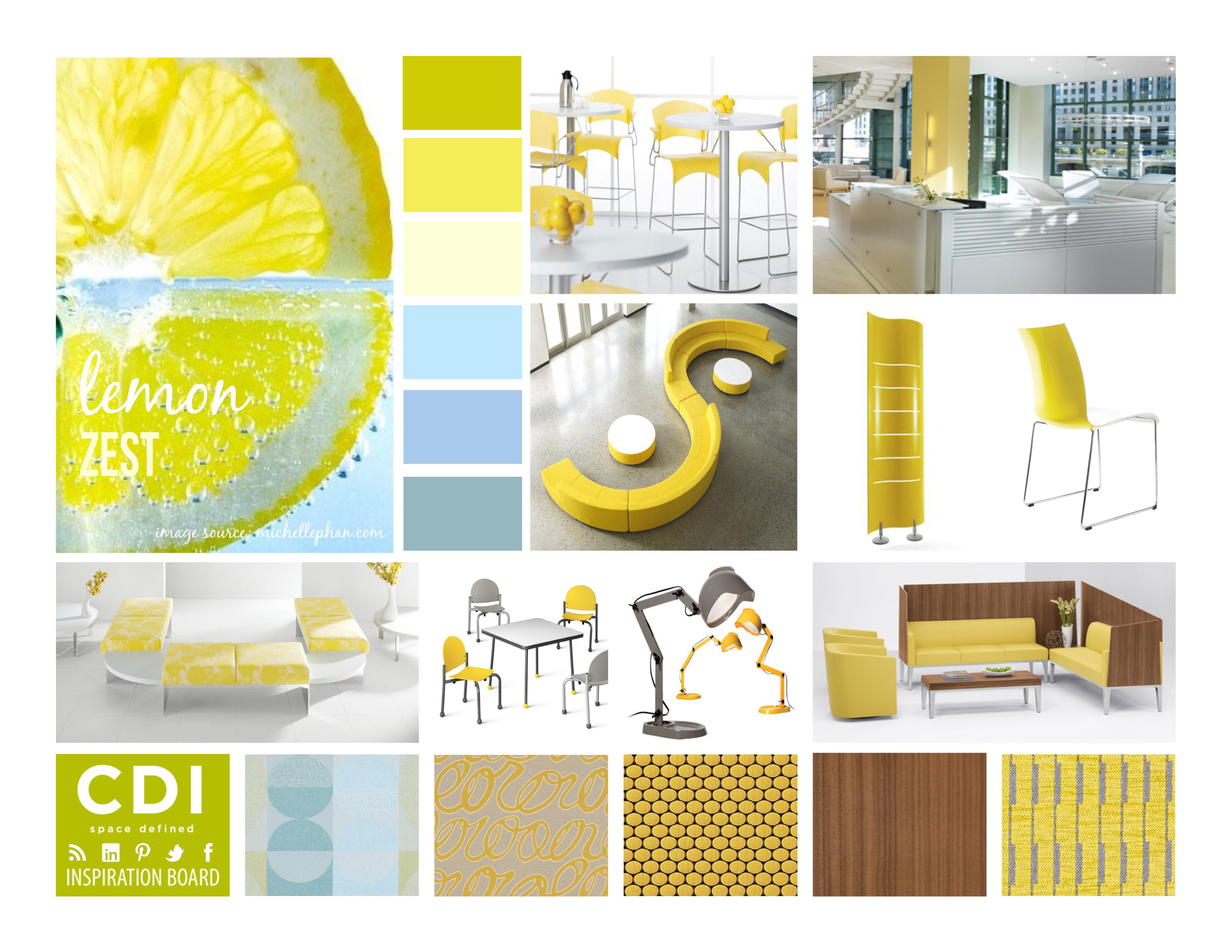 Cdi inspiration board lemon zest for Cdi interior design