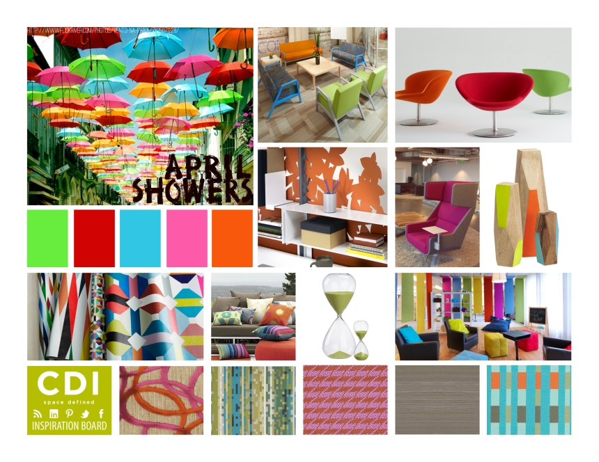 CDI Inspiration Board - April Showers