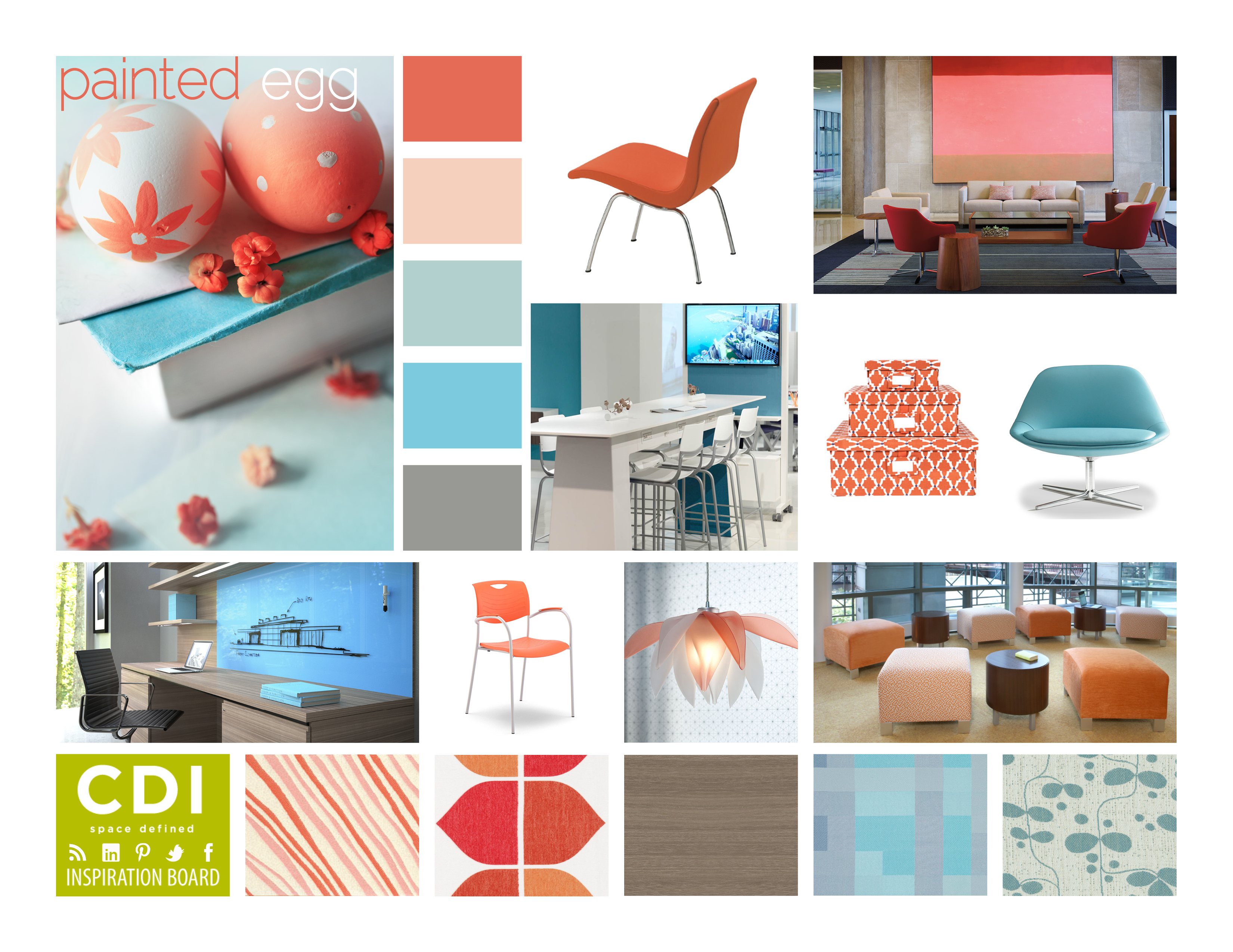 Inspiration board painted egg cdi blog for Interior design inspiration 2014