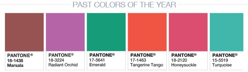 Past Pantone Colors