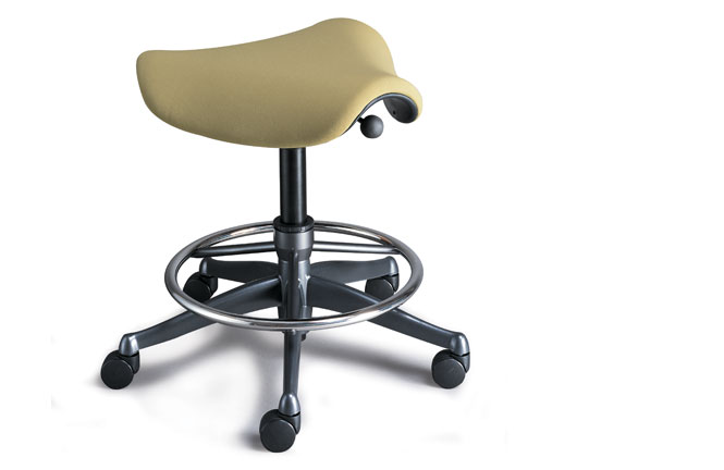 Humanscale_Saddle task stool