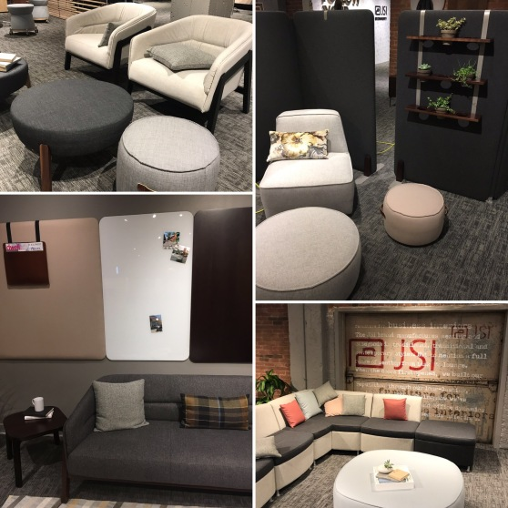 CDI at JSI Furniture Chicago Showroom: Indie Lounge. Moto Lounge, and Accessories