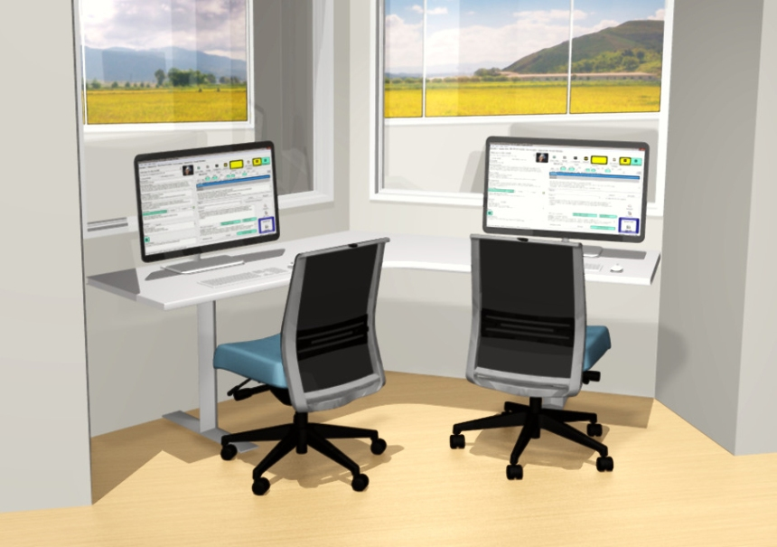 CDI healthcare - Nurse Station Rendering