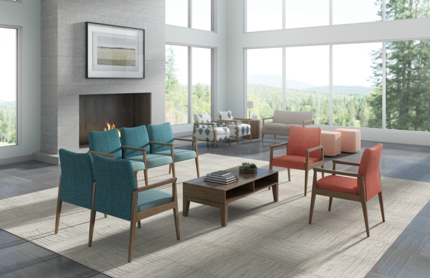 Kimball Health | Spruce Lounge, Guest and Tandem Guest Seating