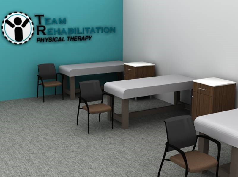 CDI Heathcare Features Physical Therapy Clinic Design: Team Rehabilitation