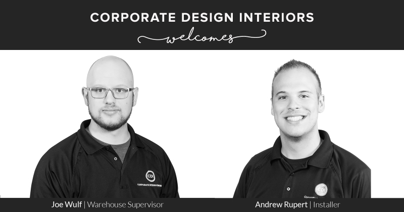 CDI New Hires - Joe Wulf & Andrew Rupert